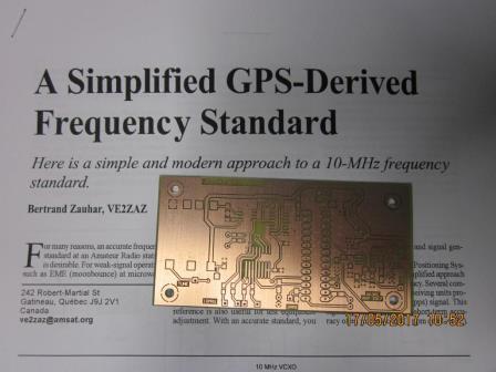 VE2ZAZ GPS locked OCXO by vk3pe